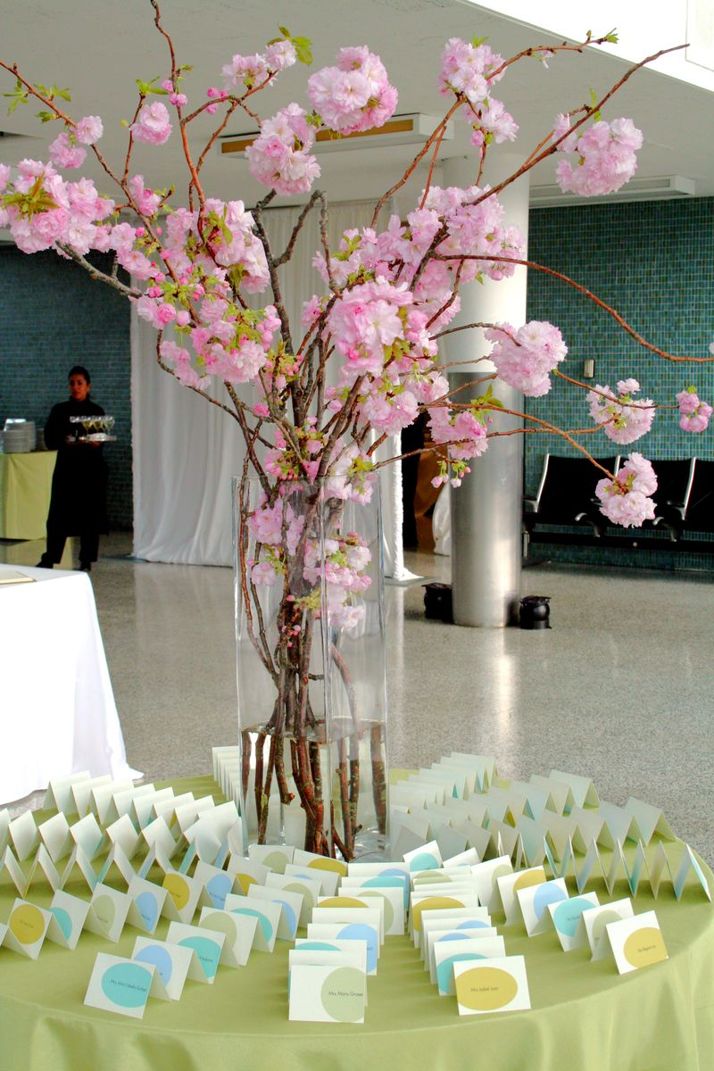 Cherry Blossoms Place Card Table