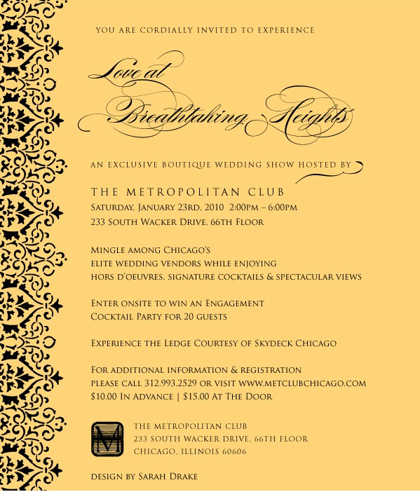 The Metropolitan Club Wedding Event