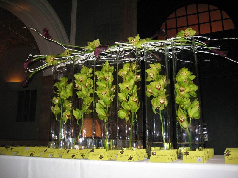 Orchid Escort Card Table