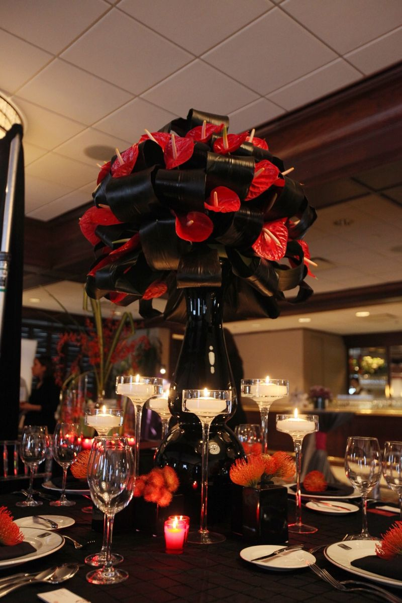 Red Anthurium Centerpiece