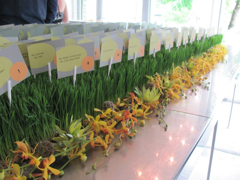 Wheat Grass Place Card Table