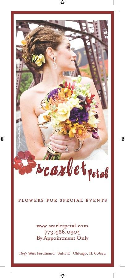 Chicago Social Brides Magazine - Scarlet Petal