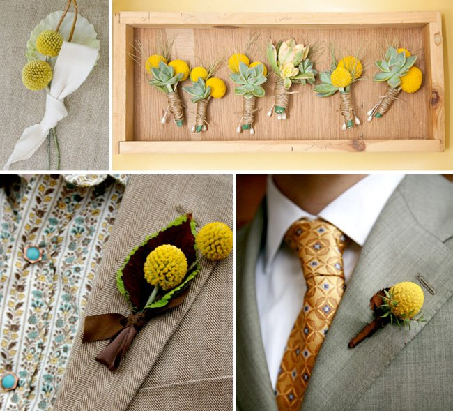 Billy_buttons - craspedia ball - boutonniere