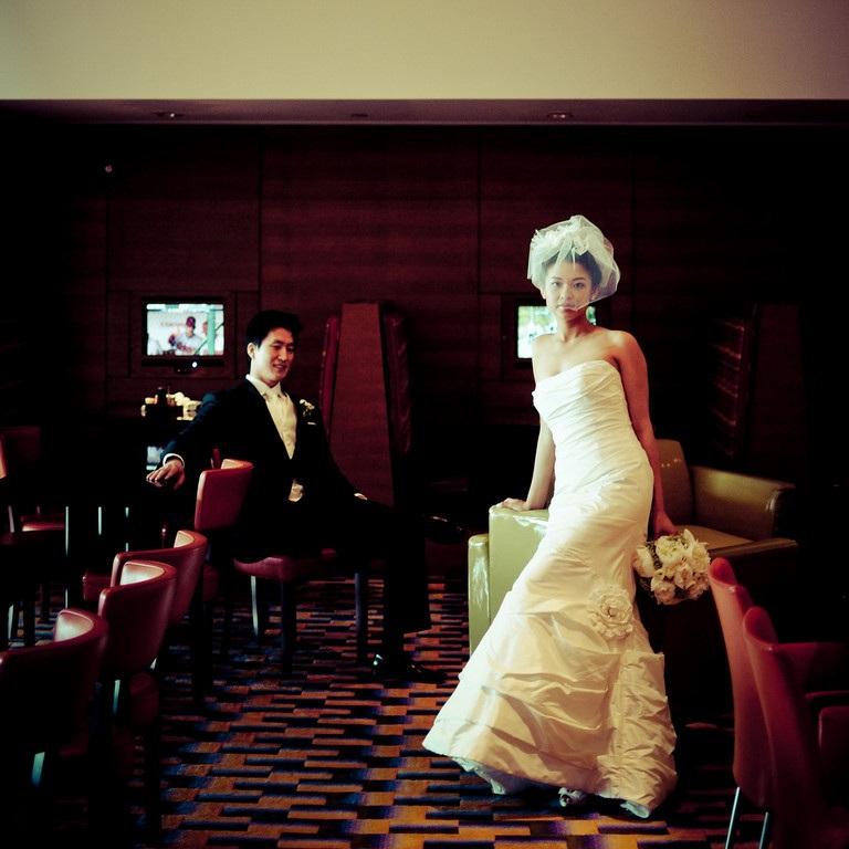 Scarlet Petal Bride and Groom