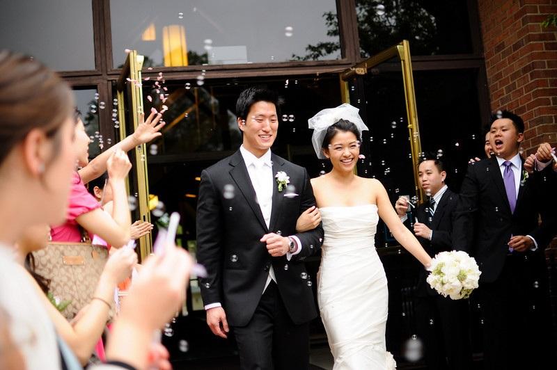 Happy Couple - Bride and Groom - Church