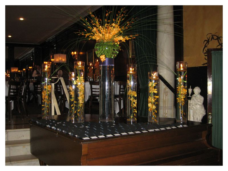 Salvatore's Wedding Chicago Piano Escort Card Table