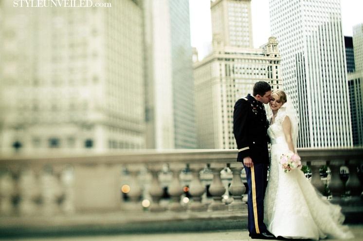 Bride and Groom - Scarlet Petal - Chicago Wedding