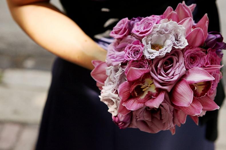 Blue Curiosa Rose Bouquet