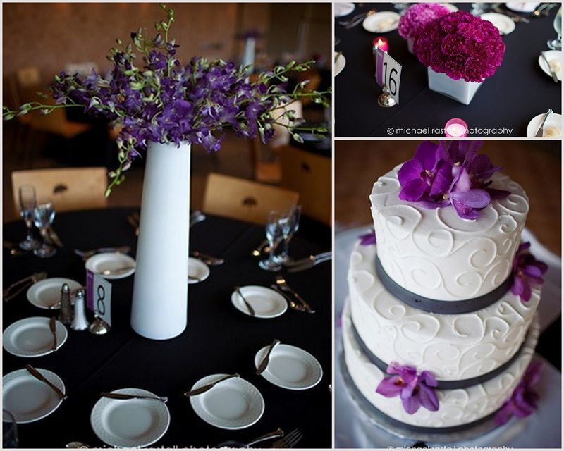 Purple Dendrobium Orchid Spray Centerpiece_Morton Arboretum_Scarlet Petal