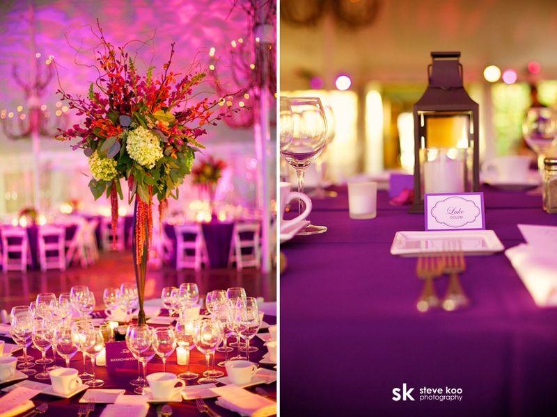 Orchid_Hydrangea Centerpiece_Galleria Marchetti Wedding_Scarlet Petal