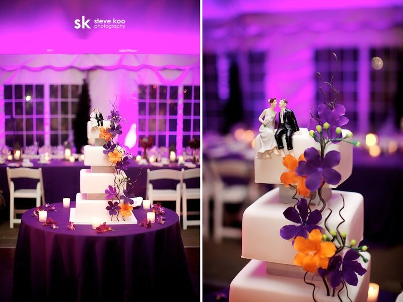 Purple and Gold Wedding Cake Scarlet Petal Galleria Marchetti
