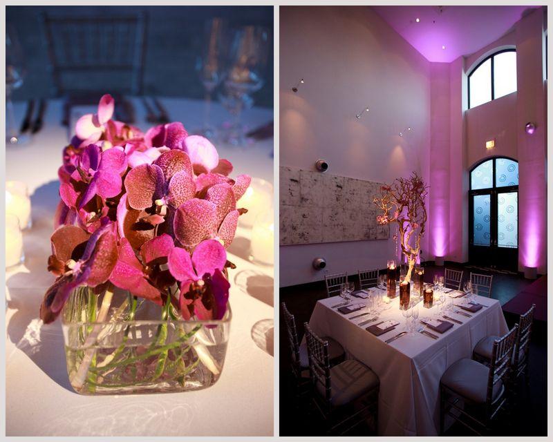 Purple Vanda Orchid Centerpiece_Scarlet Petal