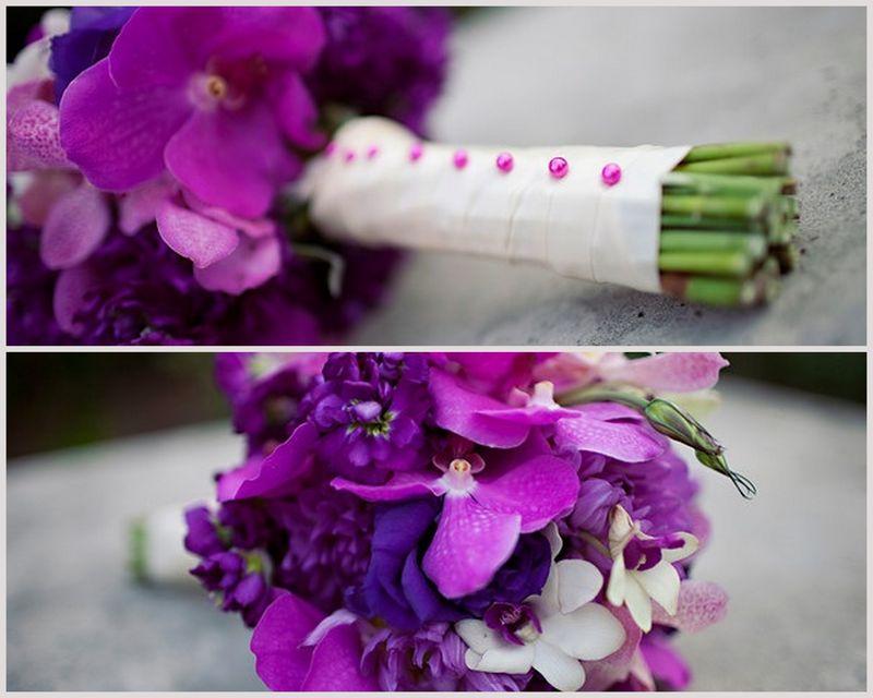 Purple Vanda Orchid Bouquet_Scarlet Petal