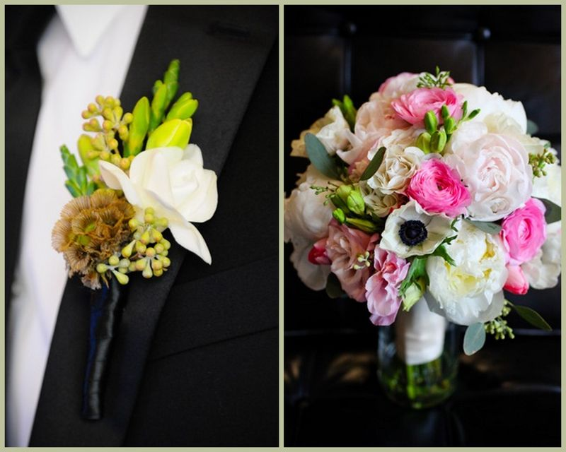 White and Pink Anemone Peony Bouquet_Scarlet Petal