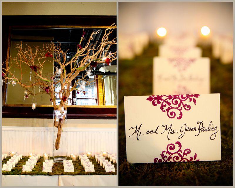 Manzanita Tree Escort Card Table_Scarlet Petal Wedding