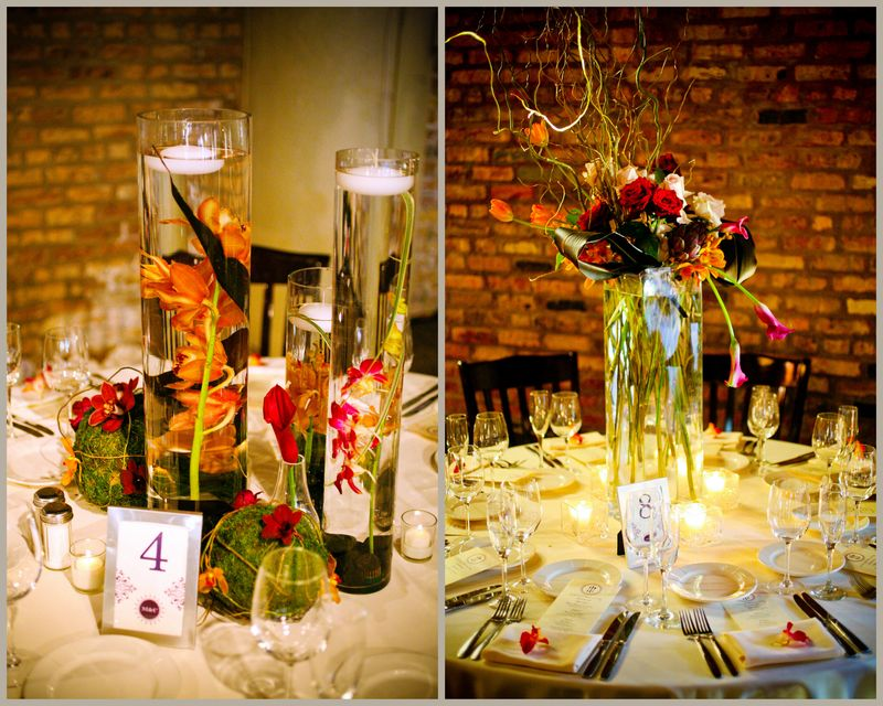 Floating Candle Centerpiece_Fulton's on the River Wedding_Scarlet Petal Wedding