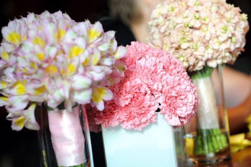 Head Table-Carnation Centerpiece - Alstromeria Bouquet - Stock Bouquet