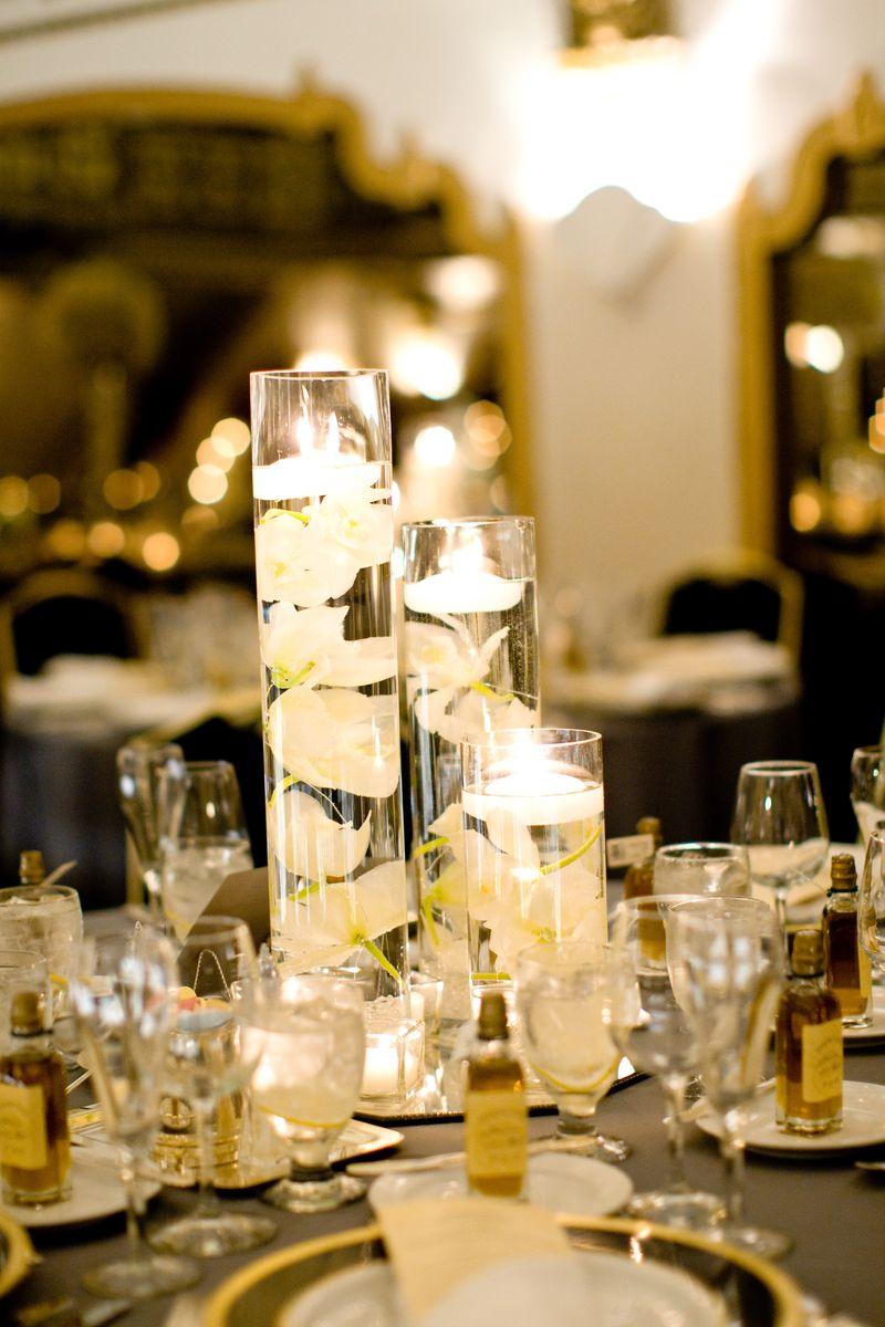 Submerged Orchid Centerpiece_Scarlet Petal Wedding_Knickerbocker Hotel Chicago Wedding
