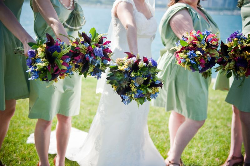 Organic and Natural Wedding Party Bouquets_Scarlet Petal