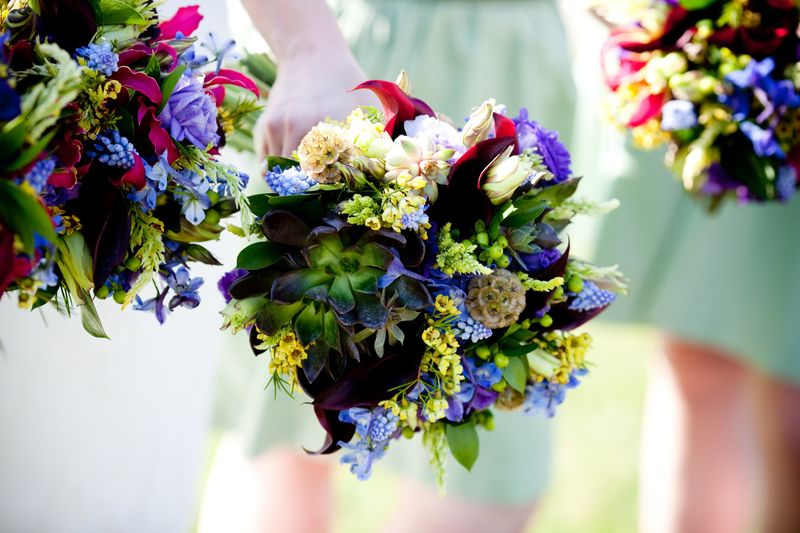 Green and Blue Bouquets_Scarlet Petal
