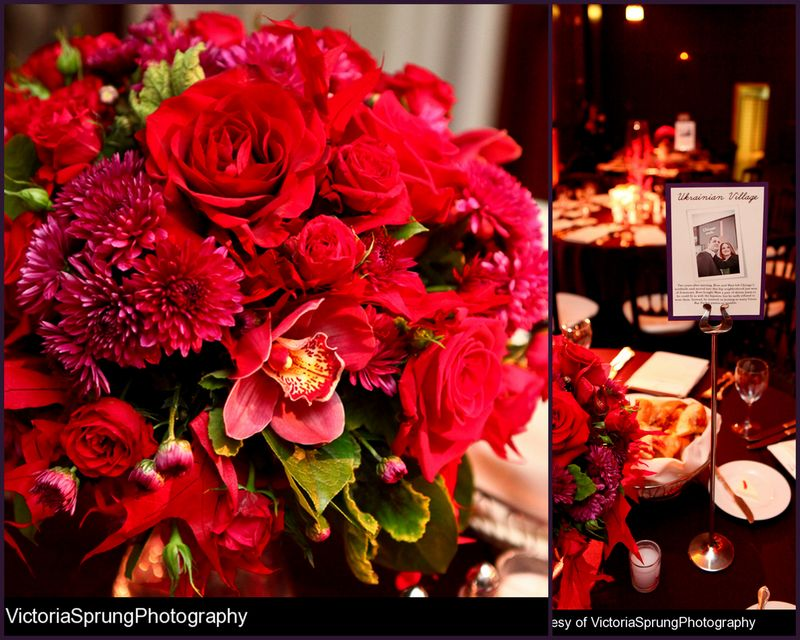 Red Rose Cymbidium Orchid Centerpiece_Scarlet Petal Chicago_Newberry Library Wedding