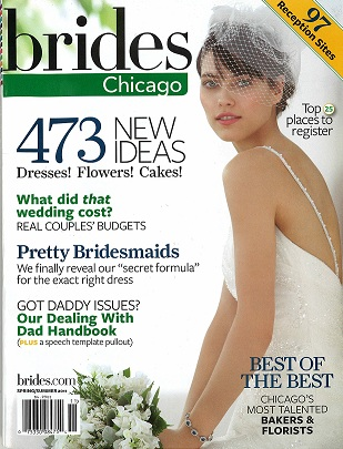 Brides Chicago Magazine Cover Scarlet Petal