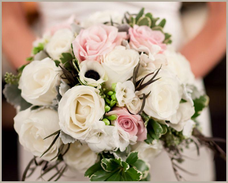 Rose Anemone Bridal Bouquet Scarlet Petal