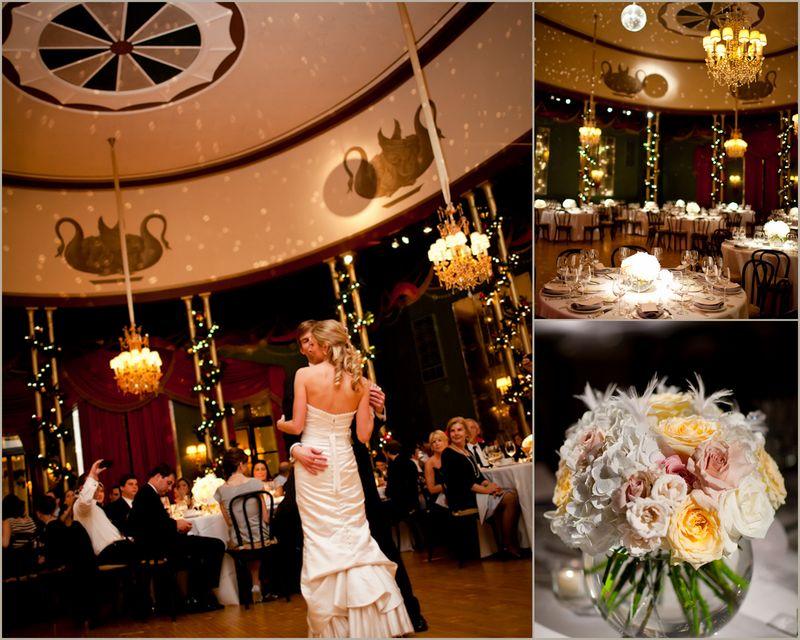 Casino Club Wedding_Rose Centerpiece_Scarlet Petal