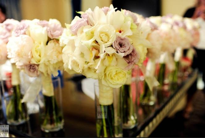 White Rose and Cymbidium Bridal Bouquet_Scarlet Petal Weddings_Kara Pearson Photography