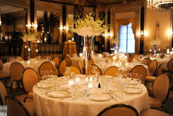 White Orchid Centerpiece_Empire Room Palmer House Hilton Wedding_Scarlet Petal