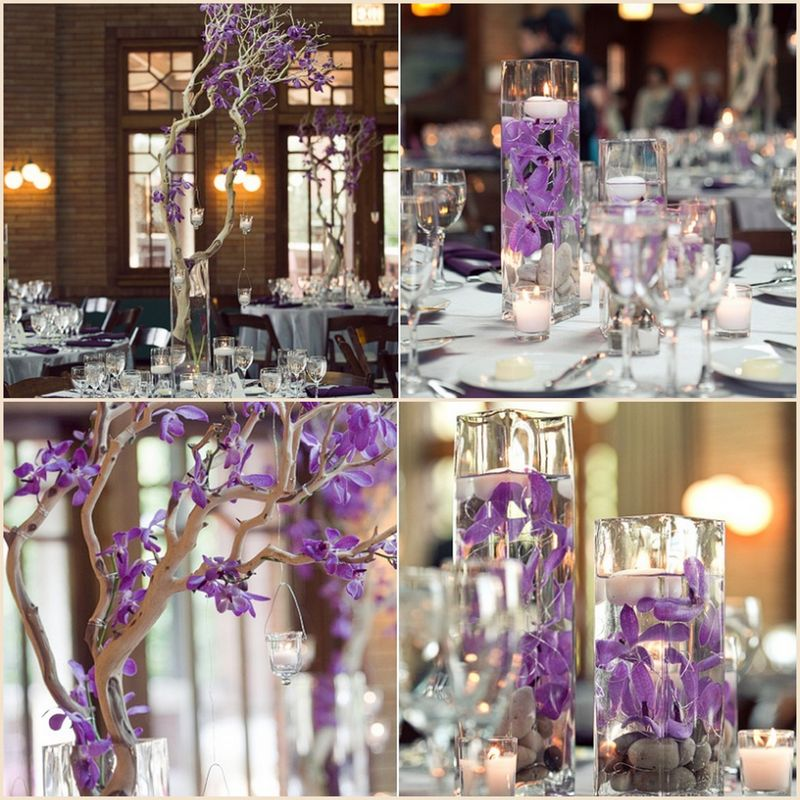 Purple Orchid Centerpieces_Scarlet Petal Weddings