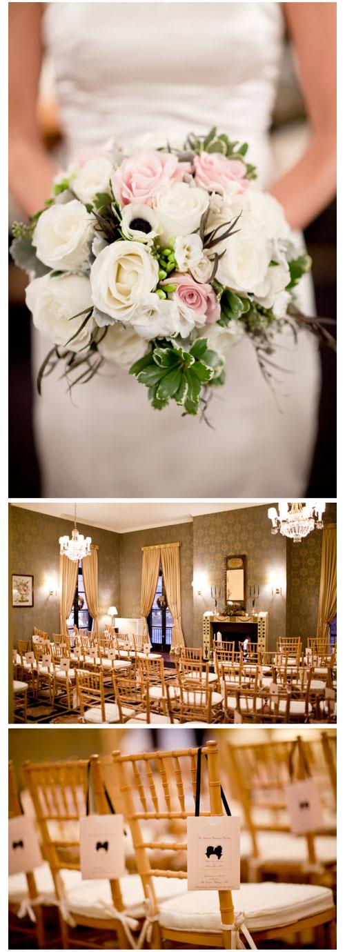 White Rose White Anemone Blush Rose Bridal Bouquet_Scarlet Petal