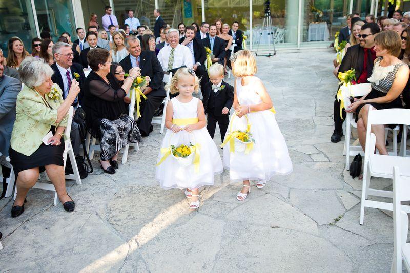 Flower Girls Yellow_Scarlet Petal_Peggy Notebaert Nature Museum Wedding