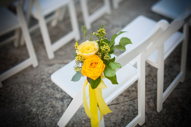 Yellow Rose Chair Decor_Scarlet Petal