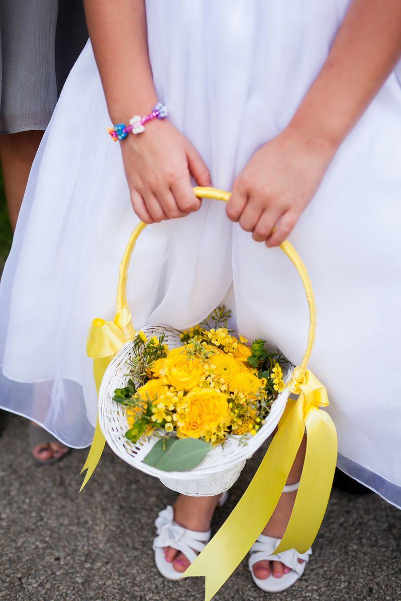 Yellow Flower Girl Basket_Scarlet Petal