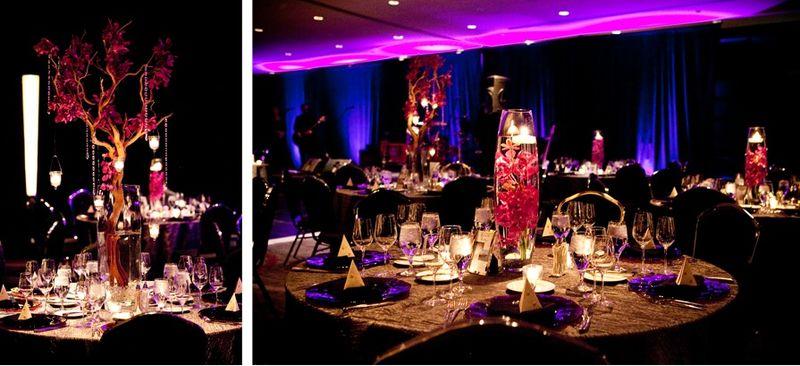 Mazanita Branch and Orchids Hanging Votives_Scarlet Petal Wedding