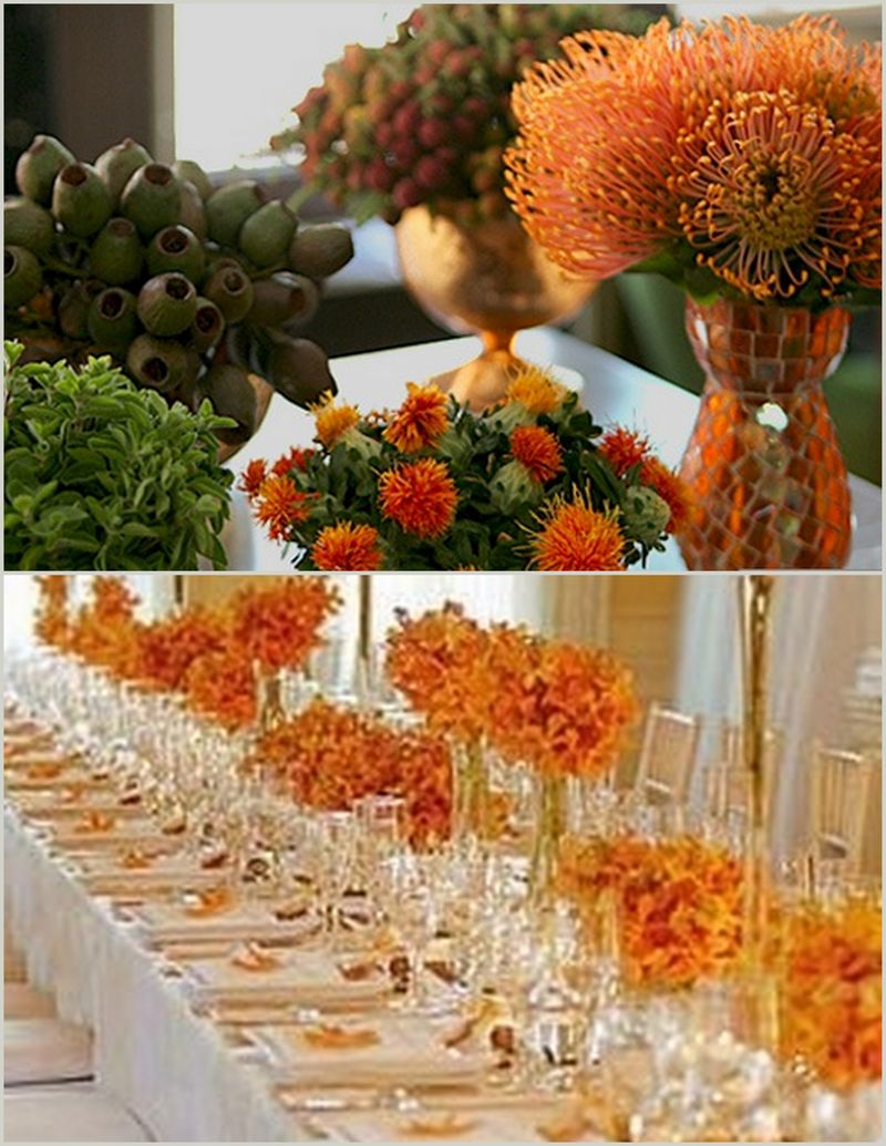 Thanksgiving Table Decor Ideas Orange_Scarlet Petal