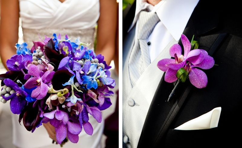 Purple and  Blue Orchid Bouquet_Scarlet Petal