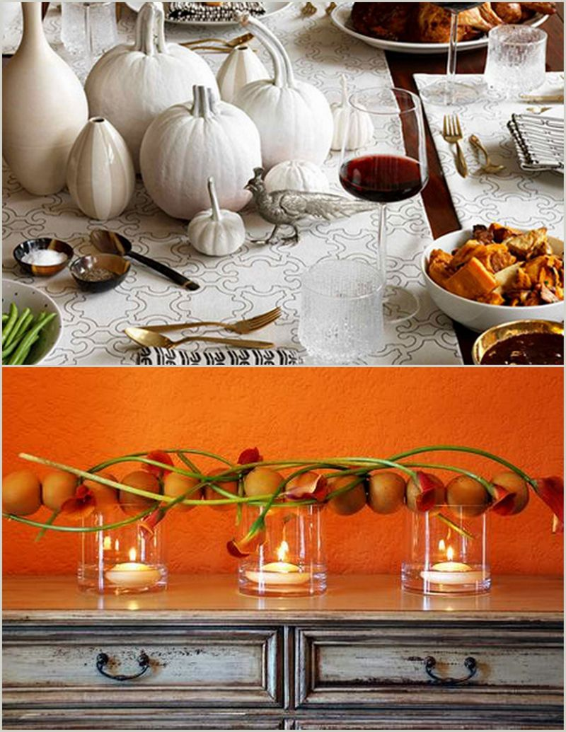 Thanksgiving Table Arrangement Orange_Scarlet Petal