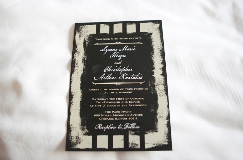Black and White Wedding Invitation _ Scarlet Petal