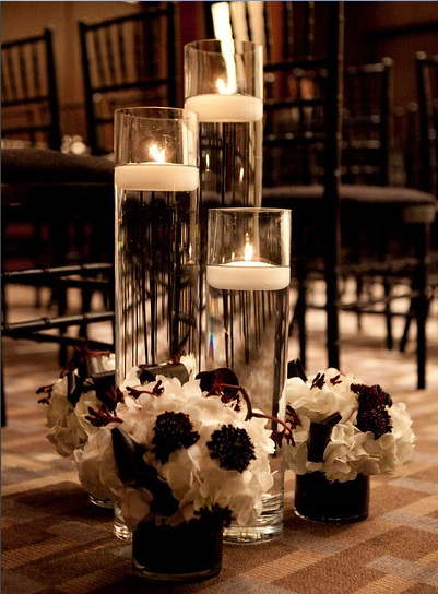 Floating Candle Centerpiece_Scarlet Petal