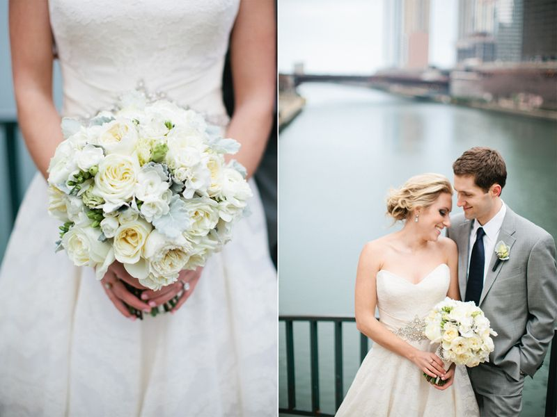 White and Grey Bridal Bouquet_Scarlet Petal