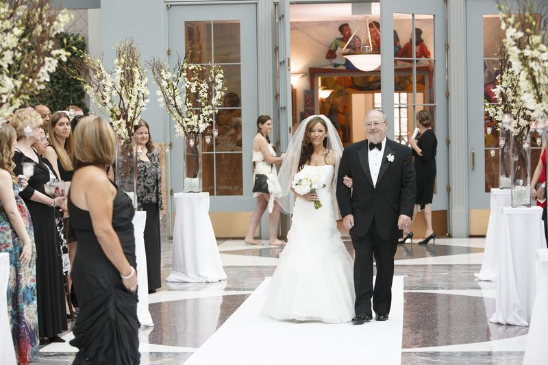 Winter Garden Room Wedding Ceremony Chicago Scarlet Petal