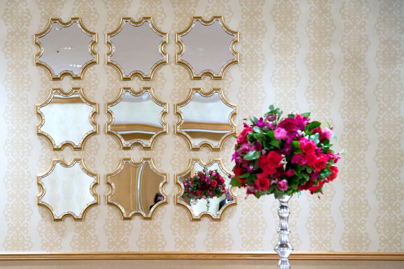 Fuchsia Rose Centerpiece