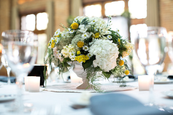 Yellow and White Hydrangea Centerpiece _ Scarlet Petal _ Cafe Brauer