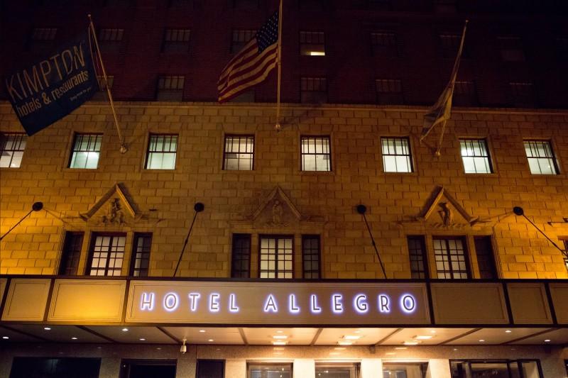 Hotel Allegro Wedding _ Scarlet Petal