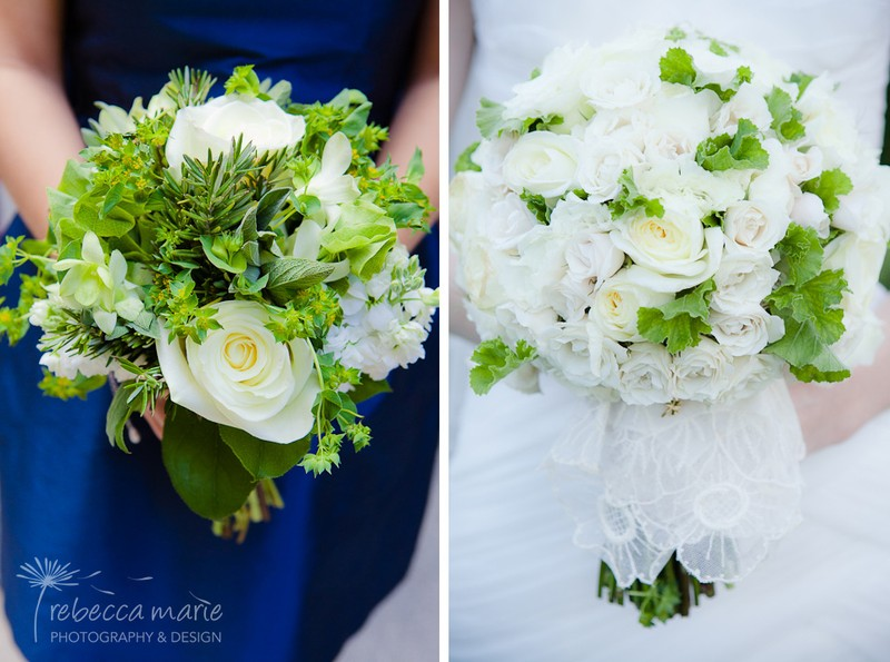 White Rose Bridal Bouquet _ Scarlet Petal _ Rebecca Marie Photography