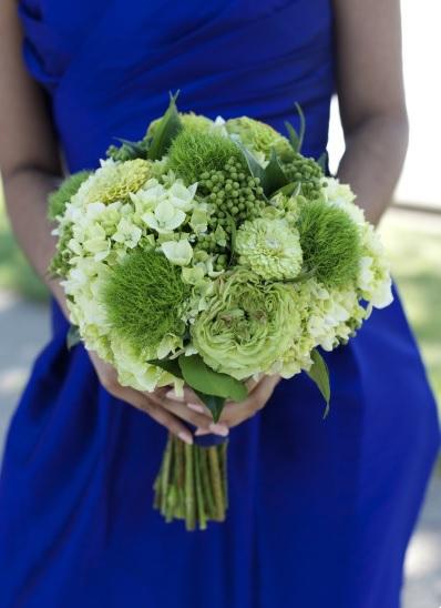 Scarlet Petal_Green Bridal Bouquet