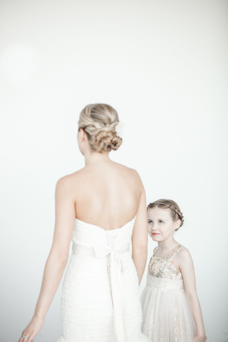 The Bride and Flower Girl Scarlet Petal