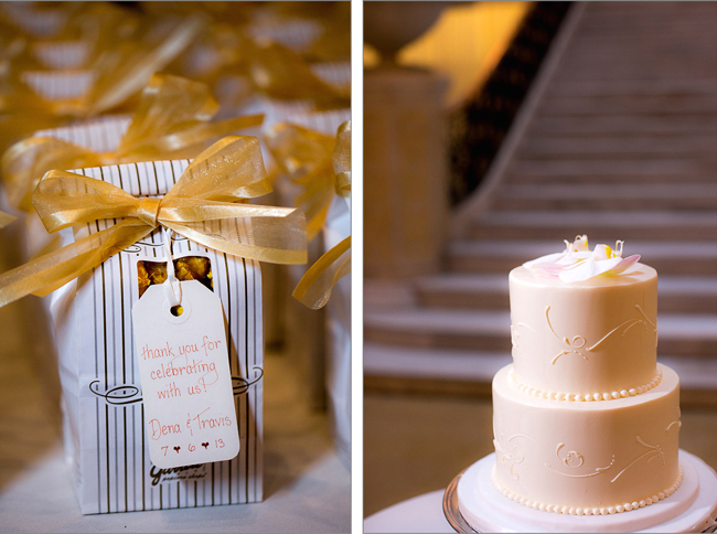 Favors and cake